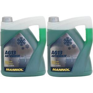 10Liter-MANNOL-Antifreeze-Kuehlmittel-40-C-Kuehlerfrostschutz-Typ-G13-gruen