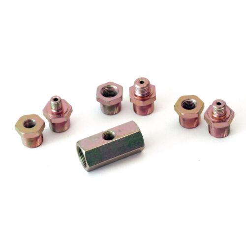 raid hp T-Adapter Öldruckgeber Öldruckschalter Öldruckanzeige SET 1//4 /& 1//8