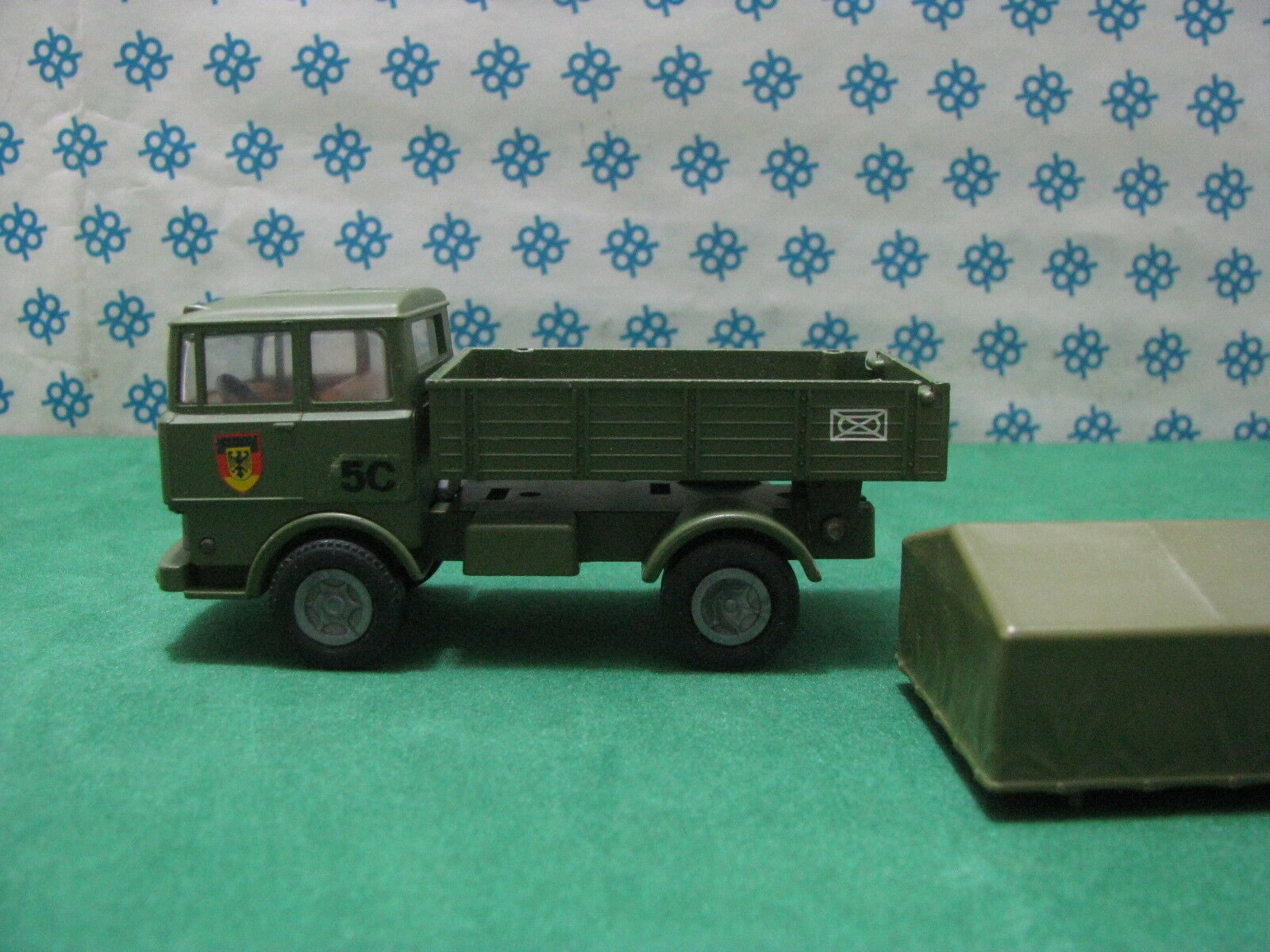 Vintage - FAUN LKW Military box tilt tilt tilt trailers - MINI-GAMA 920 W. Germany 2d9969