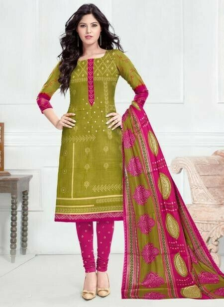 **** Unstitched **** Cotton Salwar Kameez for Daily or Casual wearing