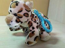 "Plush Leopard Cream Brown Black spots stuffed animal 4.5"" Plush toy Keychain"