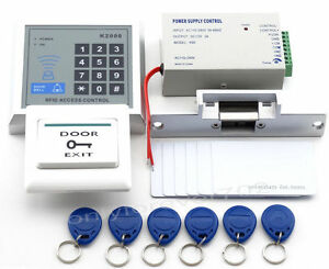 125KHZ-DIY-Full-Rfid-Card-Door-Access-Control-Kit-With-Electric-Strike-Lock-home