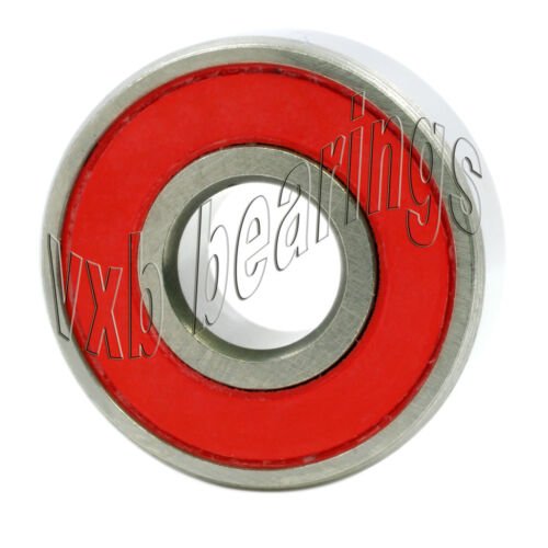 Lot of 100  Skateboard//inline Skate Ball Bearings with Red Rubber Seals 608RS