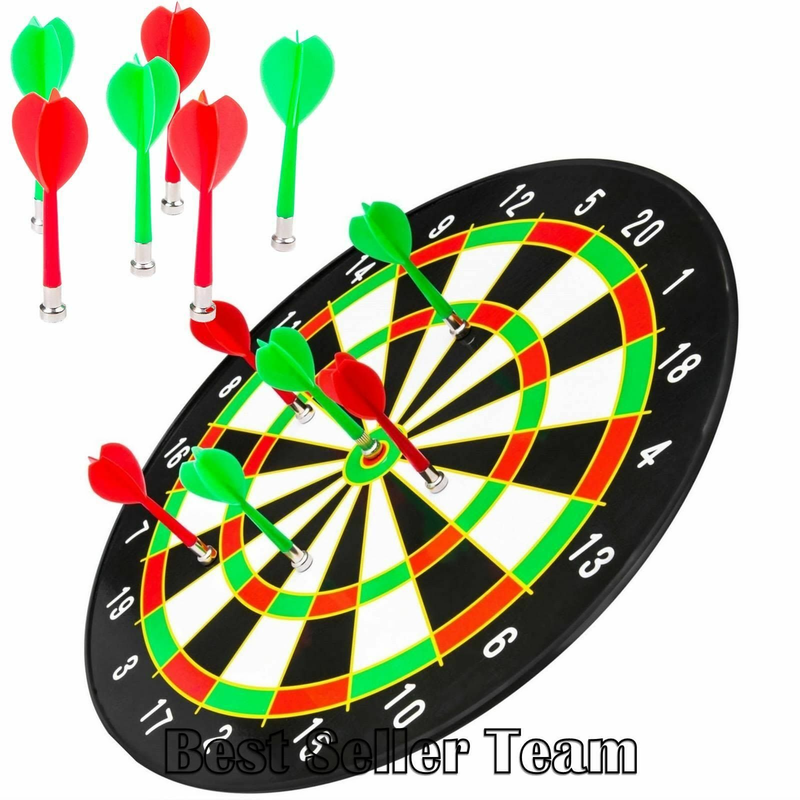 Magnetic Dart Set With 16 Inch Dartboard and 6 Darts & Equipment By Better Line