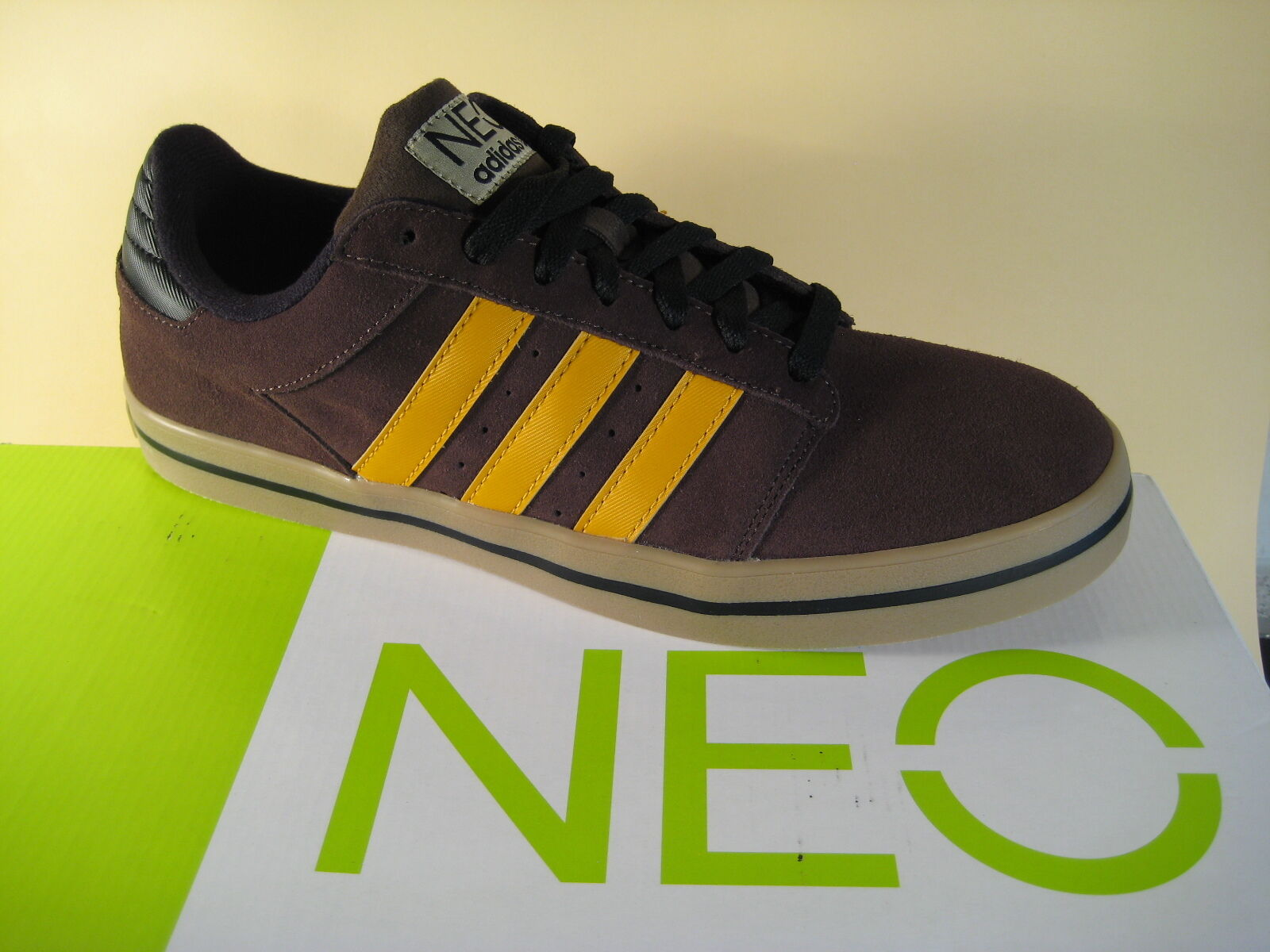 Adidas NEO Groula SK braun/gelb Echtleder  Neu!