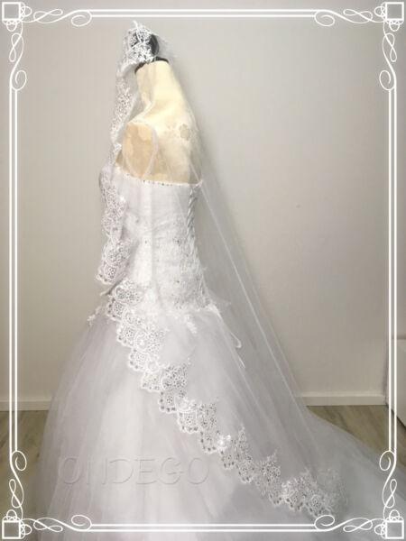 1 Veli Velo Da Sposa Velo Lustrini Bianco Ivory Da Sposa Matrimonio Strass Glitze Aspetto Attraente