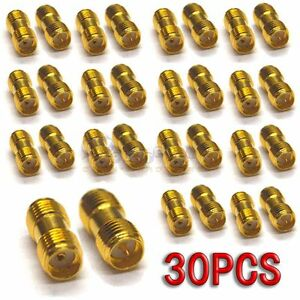 30pcs-SMA-female-jack-to-SMA-male-jack-Straight-RF-Connector-Adapter