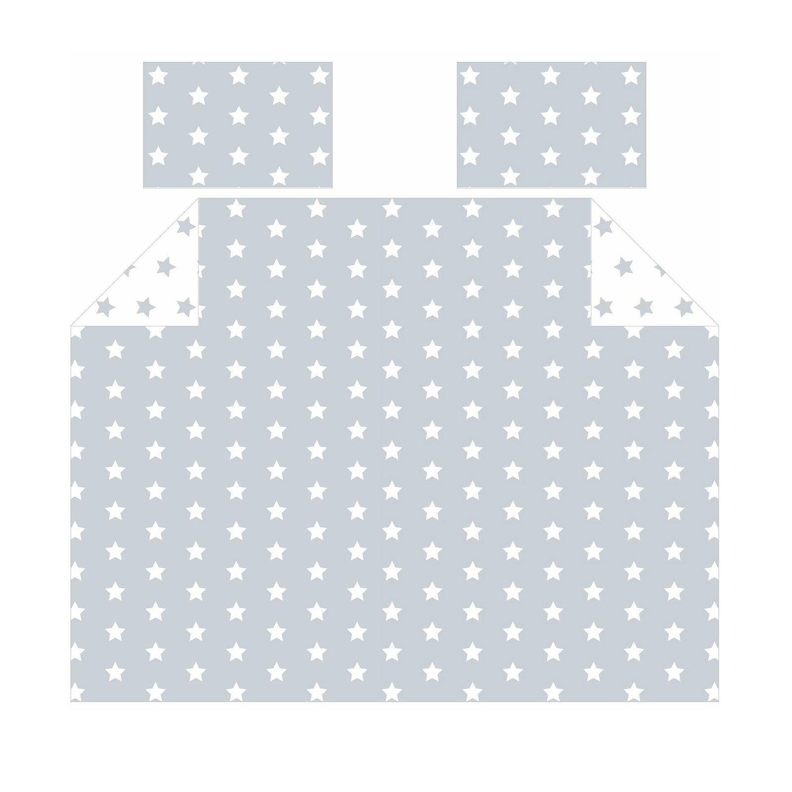 Weiß Und Grau Stars Doppelbett Bezug Set Kinder Bettwäsche