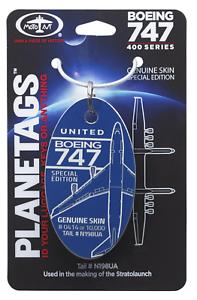 Aluminium-Anhaenger-aus-echter-Boeing-747-400-Planetags-original-N198UA