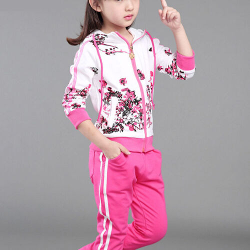 Hot  Girl Clothes Jacket Kids Clothing Hoodies+Pants Girl Tracksuit Sport Suit
