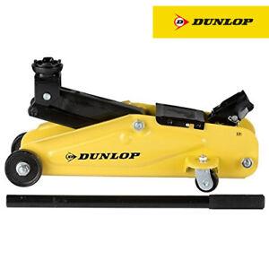 Cric Idraulico Sollevatore a Carrello 2000 KG 2T Crick per Auto e Camion Dunlop