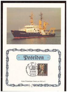 Rfa-Feuillet-Commemoratif-Semaine-de-Kiel-1996-Poseidon-Sst-Kiel-22-06-1996