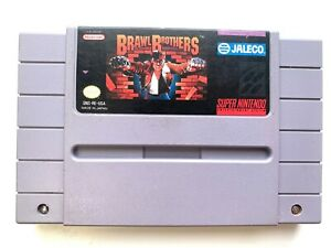 Brawl-Brothers-SUPER-NINTENDO-SNES-GAME-Tested-Working-amp-Authentic-RARE