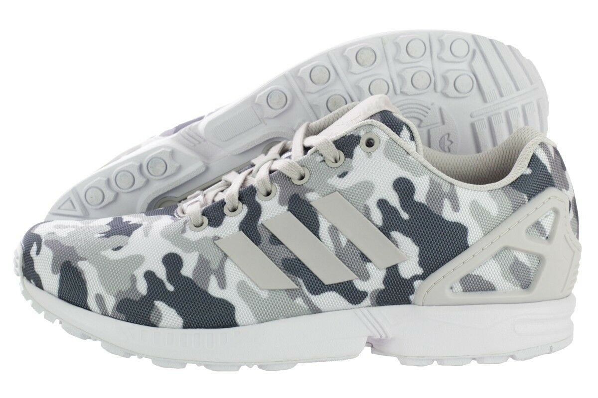 ADIDAS ZX FLUX B24390 FTW White / Pearl Grey / Core  MEN'S RUNNING SHOES SIZE 10