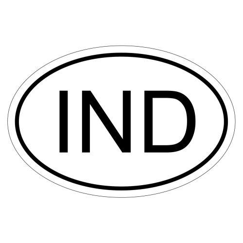 csd0039 Car Sticker Sticker Car Flag India Ind