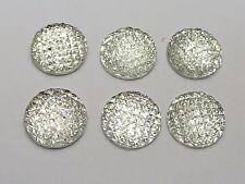 50 Clear Flatback Resin Dotted Dome Rhinestone Cabochon Gems 16mm