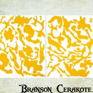 DéTerminé Woodland Camo Fusil Stencil Conditionnement Multiple | Haute Chaleur Vinyle | Pistolet Arme à Feu Cerakote-afficher Le Titre D'origine Suppression De L'Obstruction