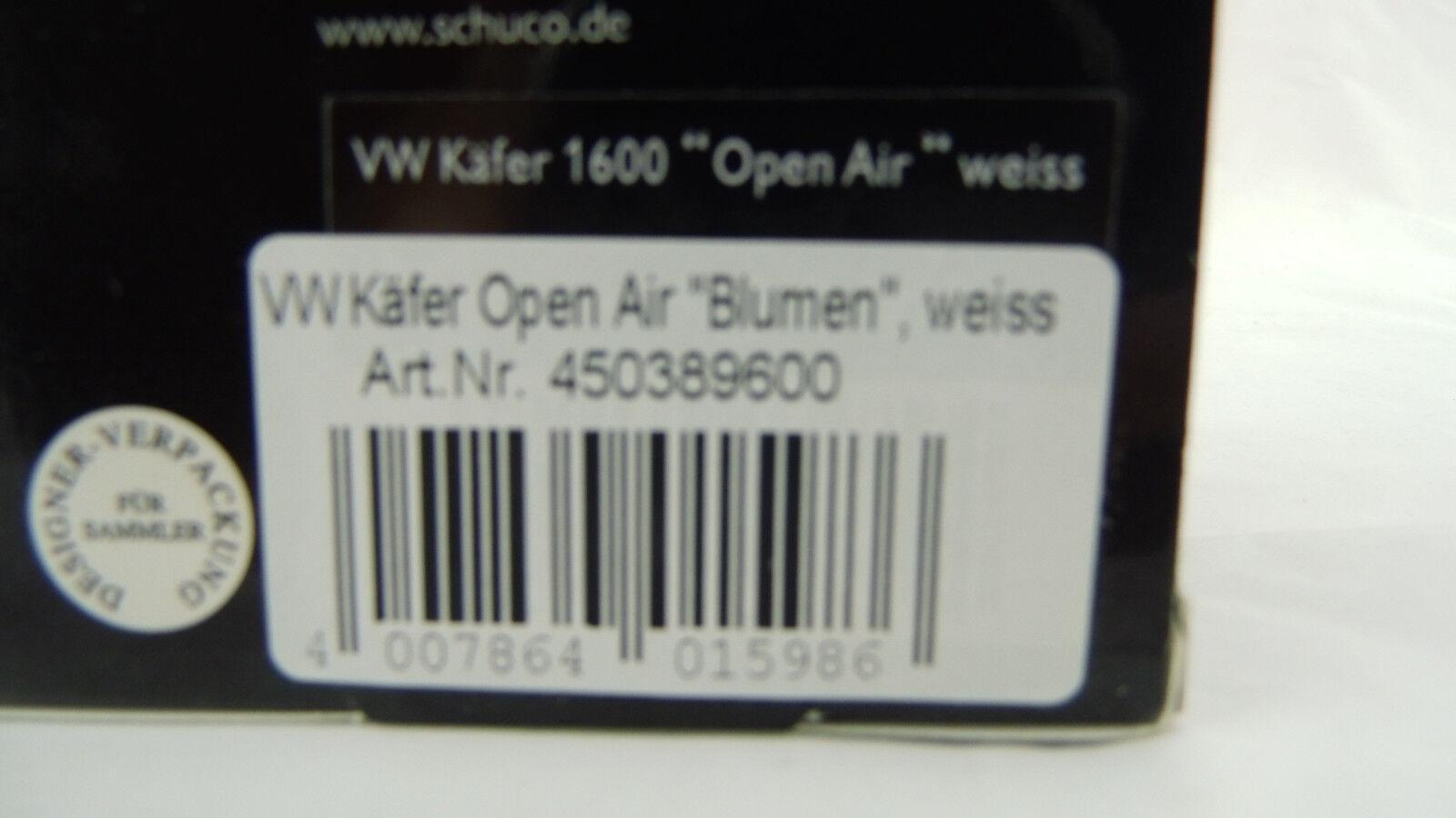 Schuco 1 43 VW Beetle Open Air Fleurs Blanc 450389600 450389600 450389600 neuf dans sa boîte f20e93