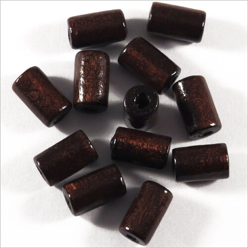 Pack von 50 Holzperlen Tuben 6 X 10 mm Dunkelbraun