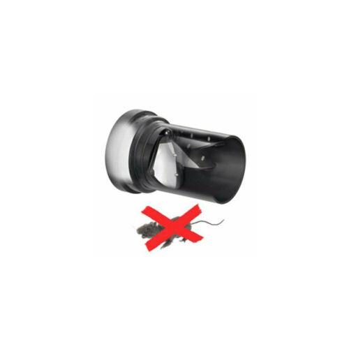 Sanit Haas PE-Wand-WC-Anschlußgarnitur DN 90 mit Rattenklappe Edelstahlklappe