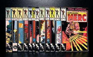 COMICS-Marvel-Mark-Hazzard-Merc-1-12-1986-1st-Merc-app-RARE