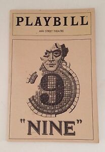 Playbill-Nine-Raul-Julia-1982-Theater-Souvenir-Booklet-46th-Street-Theatre