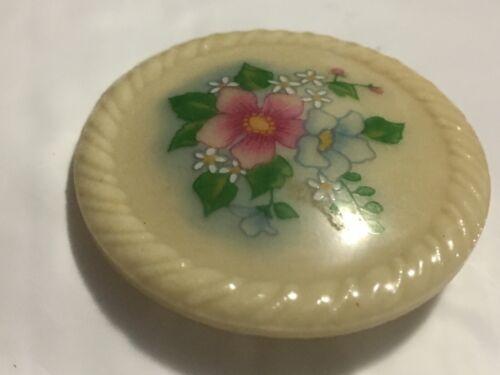 Avon Rare hearts and flowers Vintage milk glass Vanity Jar