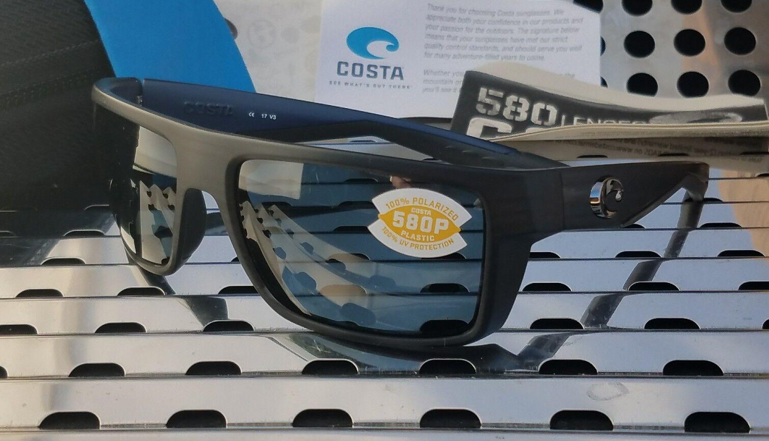 89538c2aa2 Costa Del Mar MOTU MTU 111 Sunglasses Black Teak W  Gray 580p ...