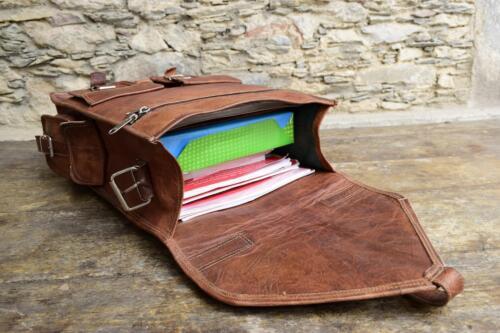 Pure Leather Goat Bag Backpack Rucksack Vintage Messenger NEW Laptop Brown Bag