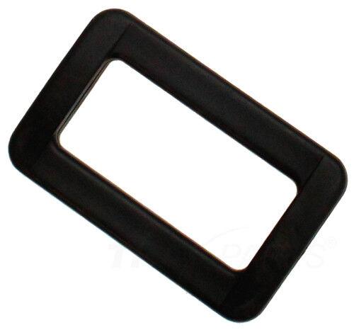 10 Stück Schlaufe Hoch 40mm x 15mm Kunststoff Schlaufen Gurtband schwarz eckig