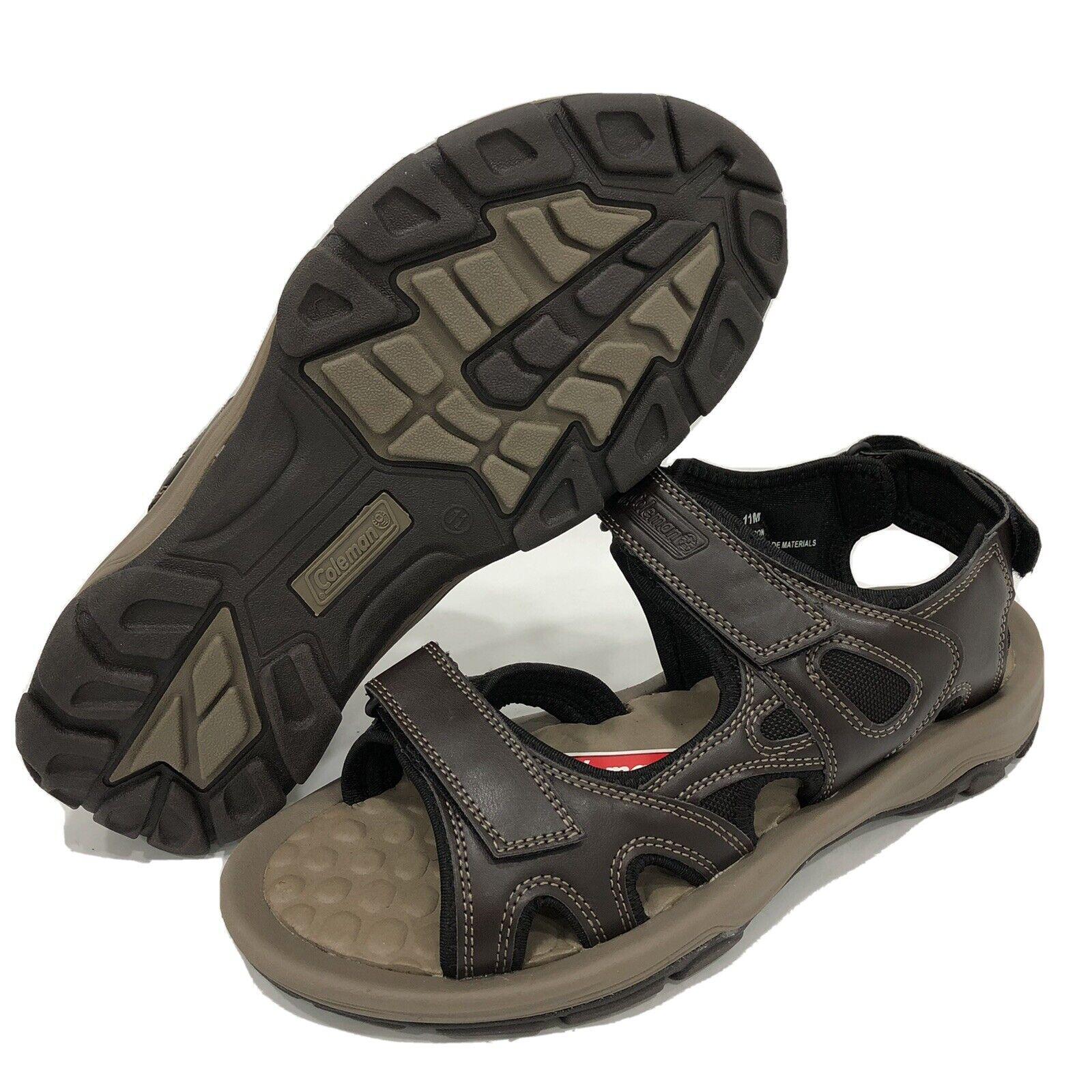 Coleman Mens Hudson Brown Sandals Sz 11 New