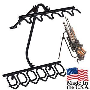 Hold-Up-Displays-Gun-Rack-Black-Steel-Folding-Floor-Stand-HD39-USA-Made