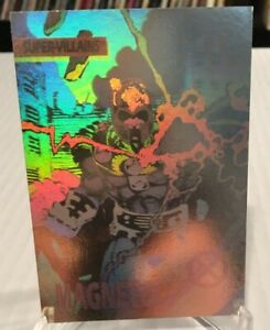 c3d770ad58f 1992 X-Men MAGNETO  XH-4 Hologram Marvel Insert Card NM M Condition ...