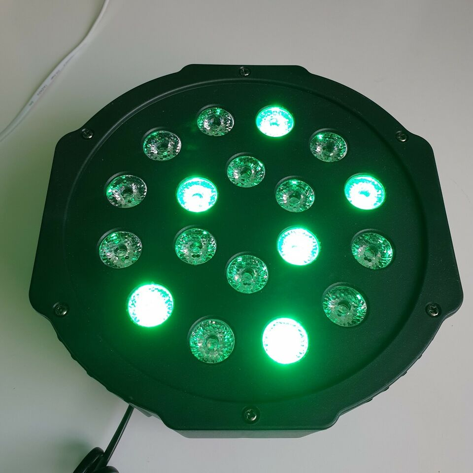 NY! 18 RGB LED Diskolys   Lydsensor   Auto   DMX DMX512