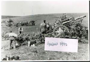 WW-2-Russland-Feldzug-Feldhaubitze-20-08-42-Poltschinok-11-Pz-Div-Artillerie