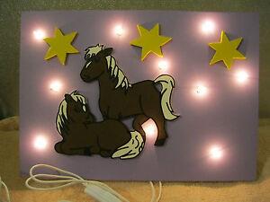 Kinderzimmer Lampe Wandlampe Pferd Weide Pferde Sterne ...