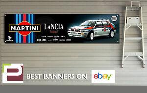 Martini Lancia Integrale Garage Banner XL for Workshop, Garage, Group B Rally