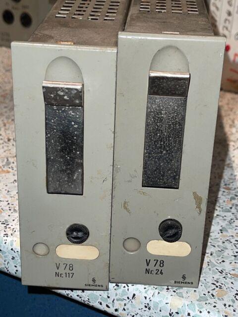 2 * SIEMENS  V78 Amp  vintage  tube amplifier