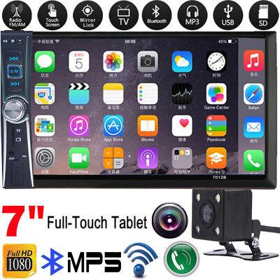 "7"" 2Din Bluetooth coche reproductor Táctil de MP5/USB/GPS estéreo radio + cámara"