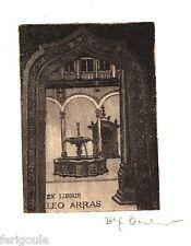 EX-LIBRIS de E. OSIANDER pour Leo Arras.