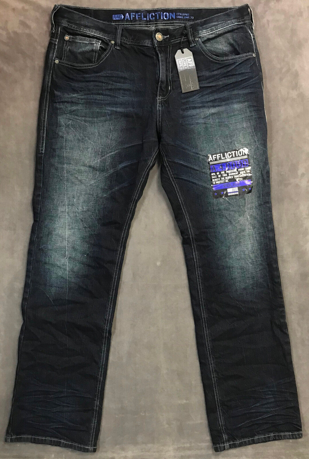 NEW AFFLICTION JEANS MENS GRANT STANDARD STRAIGHT IN TULSA SZ 38
