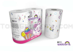 UNICORN-Birthday-Party-Kitchen-Towel-Paper-Tissue-2-Rolls-Pack-Limited-Edition
