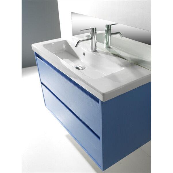 Lavandino Lavabo Consolle bagno Modello Tanaro ceramica bianco - Varie misure