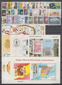 SPAIN-ESPANA-YEAR-1996-COMPLETE-WITH-ALL-THE-STAMPS-MNH-AND-MINISHEETS