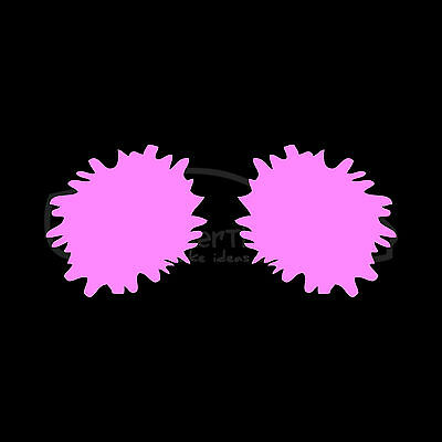 POM POMS Silhouette Sticker Vinyl Decal Cheer Cheerleader Football School Team