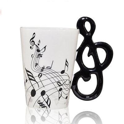 2PCS AU Stock Promotion Ceramic Musical Black Free Mug CoffeeTea Cup Gift