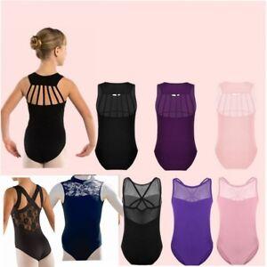 Girls-Kid-Leotard-Ballet-Dance-Dress-Gymnastics-Sport-Tank-Top-Dancewear-Costume