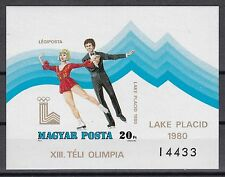 Ungarn 1980 poszfrisch  MiNr. Block 140B  Olymische Spiele Lake Placid   Eistanz