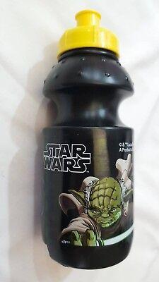 Star Wars Borraccia In Plastica 18cm Nera - Disney Guerre Stellari Originale New Lustro