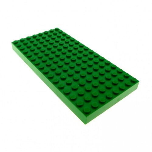 6.5cm x 13cm good used condition lego board green thick board 8 x 16 studs